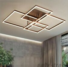LED Ceiling Light Home Lamp Modern Elegant Living Room Bedroom Square Chandelier