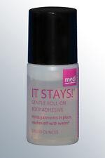 medi It Stays roll-on body adhesive fixative glue, clothes, gems, wig, tattoos