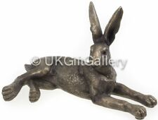 Laying Hare Sculpture Ornament in Bronze Finish Resin by Leonardo 17cm NEW BOXED