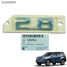 Chrome Rear Logo 2.8 Engine Emblem Genuine Fits Chevrolet Trailblazer Ltz 2012