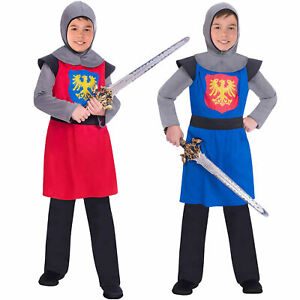 Boys Medieval Knight Costume Child King Warrior History Fancy Dress Book Week