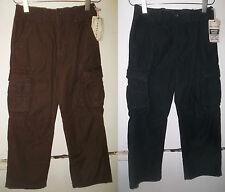 2 PAIR NEW WITH TAGS BOYS ARIZONA CARGO SLACKS PANTS SIZE 10 $59.98 BROWN BLACK
