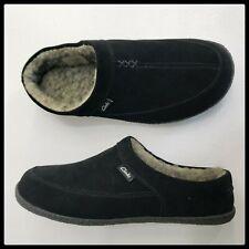 Clarks men's Tyree Porter Leather Upper Slipper Size 11 M Black Nwt