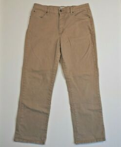 Lee Relaxed Fit At The Waist Womens Size 33WxL29 Light Brown Stretch Denim Jean