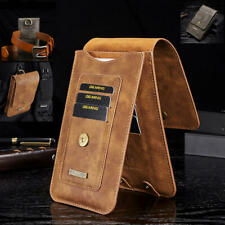 Samsung S20  iphone 11 Model Universal Leather Case Holster Pouch with Belt Clip