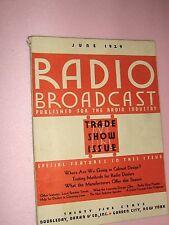 """Vintage """"Radio Broadcast"""" Magazine, June, 1929, American Radio Industry, Rare"""