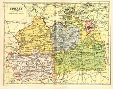 Map of The County of Surrey,England
