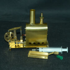 Mini Pure Copper Steam Engine Model with Boiler Creative Gift Education Toy Set