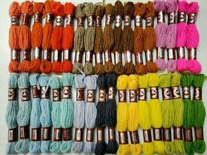 NOS NEW 70 SKEINS DMC 3-ply Persian Floralia 100/% Wool Yarn Kaleidoscope Colors