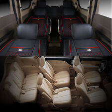 7 Seats Full Set Vehicle Chair Seat Covers Cushions Pillows for Van MPV BPV Auto