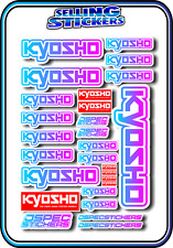 KYOSHO MODEL RC CAR DRONE BOAT BUGGY MINI Z STICKERS DECALS ROBOT R/C BLU/PNK W