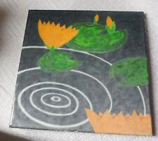 Vintage Gladding McBean Hermosa Lilies Lily Pad Pottery Ceramic Tile