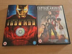 Captain America & Iron Man DVDs (used)