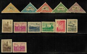 Estonia #C14-18,NB1-6 Complete Set 1925-41 MH