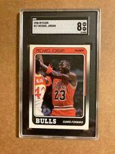 1988 Fleer #17 Michael Jordan SGC 8 NM-MT Card