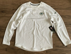 Nike Green Bay Packers Dri-Fit WHITE Team Issued Player Color Rush Sweater XL