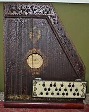 Vintage  1890's Parlor Lap Harp Mandolin