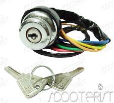 Lambretta Ignition Switch Chrome Body Brass Key 3 Point GP DL SX Series 2 LI New