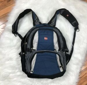 Swiss Gear By Wenger Gray Padded Multi Pockets Travel Hiking Laptop Backpack
