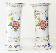 Paris Royal Peint a La Main Sevres design Spring Flowers Porcelain Vases /France