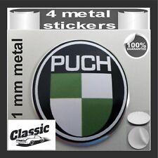 METAL STICKERS WHEELS CENTER CAPS Centro LLantas 4pcs Classic PUCH
