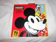 NEW, WOMENS DISNEY MICKEY MOUSE 90 YEARS 12 DAYS OF SOCKS, SHOE SIZE 4-10