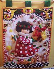 "Bucilla ""JOY"" Engelbreit Felt Christmas Wall Hanging Kit OOP RARE  Girl Asian"