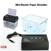 A4 Paper Electric Shredder USB Strip Cut Shredding Card Document Office Desktop
