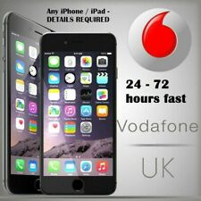 FAST UNLOCK SERVICE FOR UK Vodafone Any iPhone / iPad - DETAILS REQUIRED