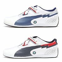 Puma F12 Evo Speed BMW Leather Trainers in White, Black & Blue 304175