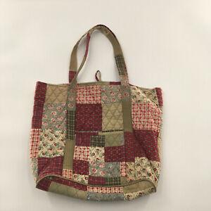Ten Bears Cotton Patchwork Quilted Shoulder Bag Tote Bag Handbag