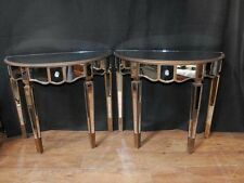 Pair Mirror Console Tables Mirrored Hall Tables Deco Furniture