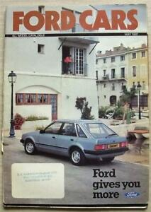 FORD CAR RANGE Sales Brochure May 1981 #FA221/67 XR3 Fiesta ESCORT Capri GRANADA