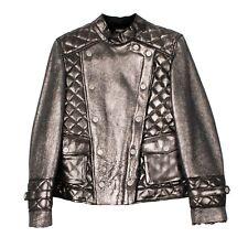 RRP €790 ARMANI JUNIOR Shearling Jacket Size 10Y / 142CM Metallic Popper Front