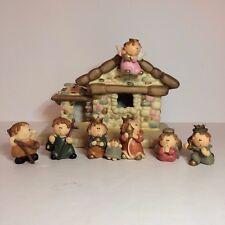 8 Piece Ceramic & Resin Christmas Lighted Nativity Set - Item # 201052