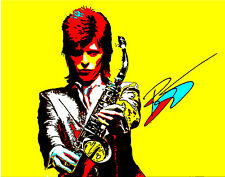 "DAVID BOWIE ZIGGY STARDUST GLAM ROCK 70S RETRO POP ART ON LARGE CANVAS 36"" X 28"""