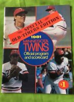 1981 Minnesota Twins Official Program & Scoreboard. Special Old-Timers Edition
