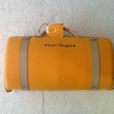 VEUVE CLICQUOT TRAVELLER-CHAMPAGNE COOLER CASE + 1 GLASS-SAFFRON YELLOW-TAG-VGC