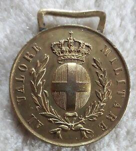 MEDAGLIA ORO VALORE MILITARE S.J JHONSON REGNO ITALIA