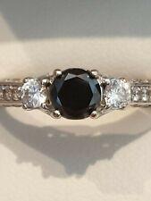 Glamira Black Diamond Solitaire Engagement Ring 14ct White Gold  0.50 carat
