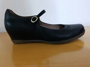 Dansko Loralie Mary Jane Black Burnished Nubuck Women's Shoes - Size EU 38 - NEW