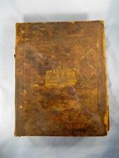 Antique Large 1847 Holy Bible Published Philadelphia With Bush Family Record (O)