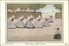 H Willebeek Le Mair Dutch Nursery Rhyme FOLLOW MY LEADER Postcard
