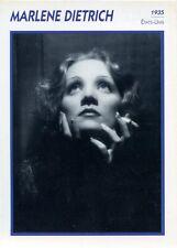 PHOTO / FICHES L ' ENCYCLOPEDIE DU CINEMA , PORTRAIT DE STARS / MARLENE DIETRICH