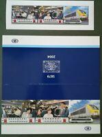 Eisenbahnen, Lokomotiven Belgien Eisenbahnmarken 2004 im Folder ** EK €: 8,00