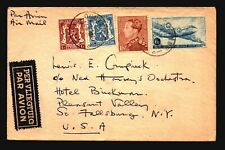Belgium 1945 Airmail Cover to USA / Light Creasing - L506
