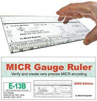 MICR Check Setup Gauge Ruler, E-13B & CMC-7 Check Position Gauge