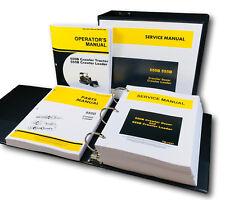 Service Parts Operators Manual Set For John Deere 555b Crawler Dozer Loader
