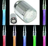 LED Faucet Temperature Sensor Light 7 Color-Changing Shower Kitchen Water Tap