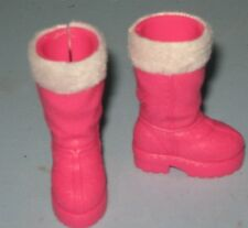 BARBIE SHOES-HOT PINK BOOTS WITH FAKE FUR TRIM